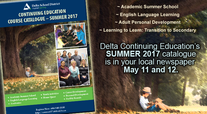 Delta School District: Continuing Education's Summer 2017 Catalogue Out