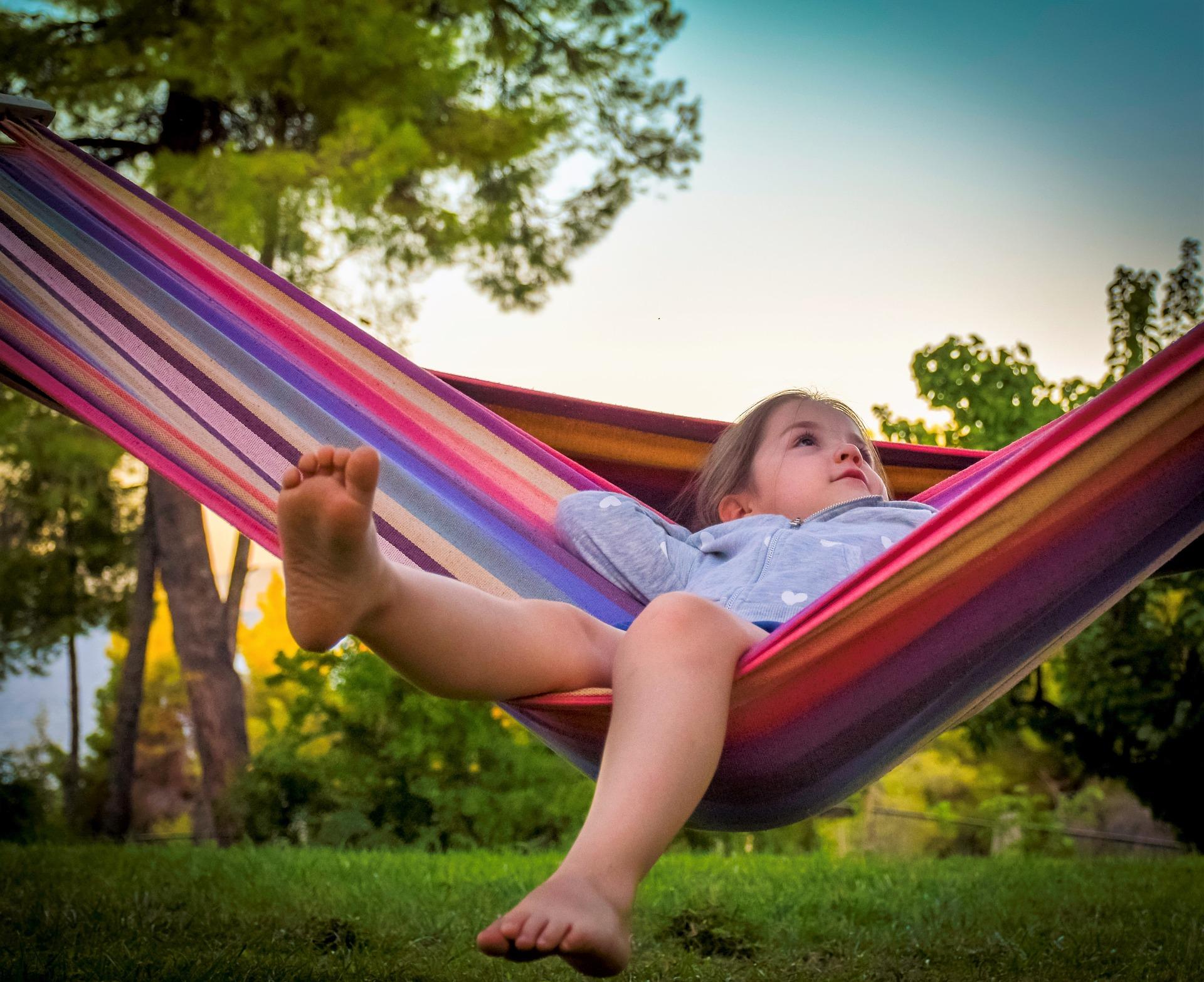 child in hammock